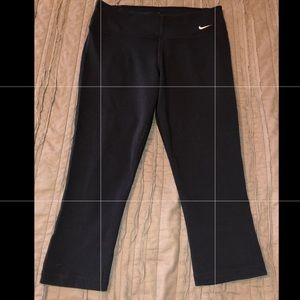 Nike Dri-Fit capris.  Black